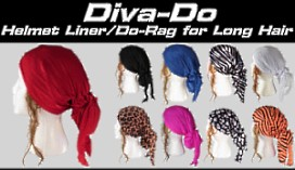 Review and Order Raci-Babi Diva-Do Doo-Rags and Helmet Liners
